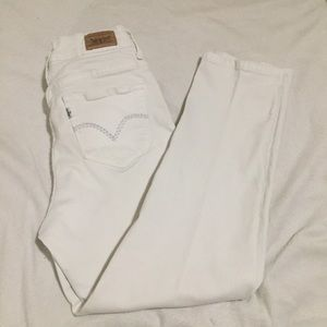Levi's white ankle jeans 512 - high waisted